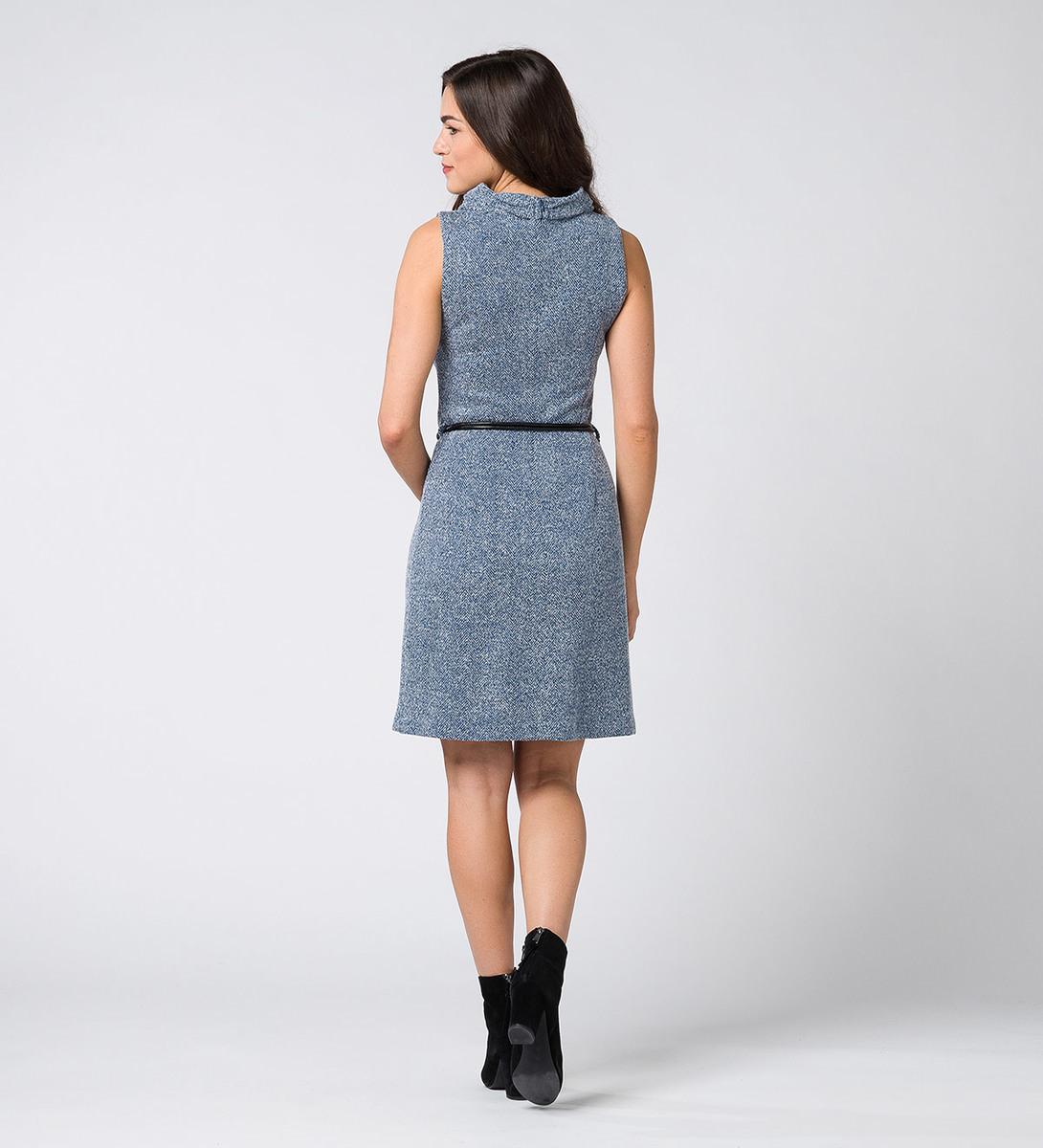 Kleid im melierten Look in petrol blue-m
