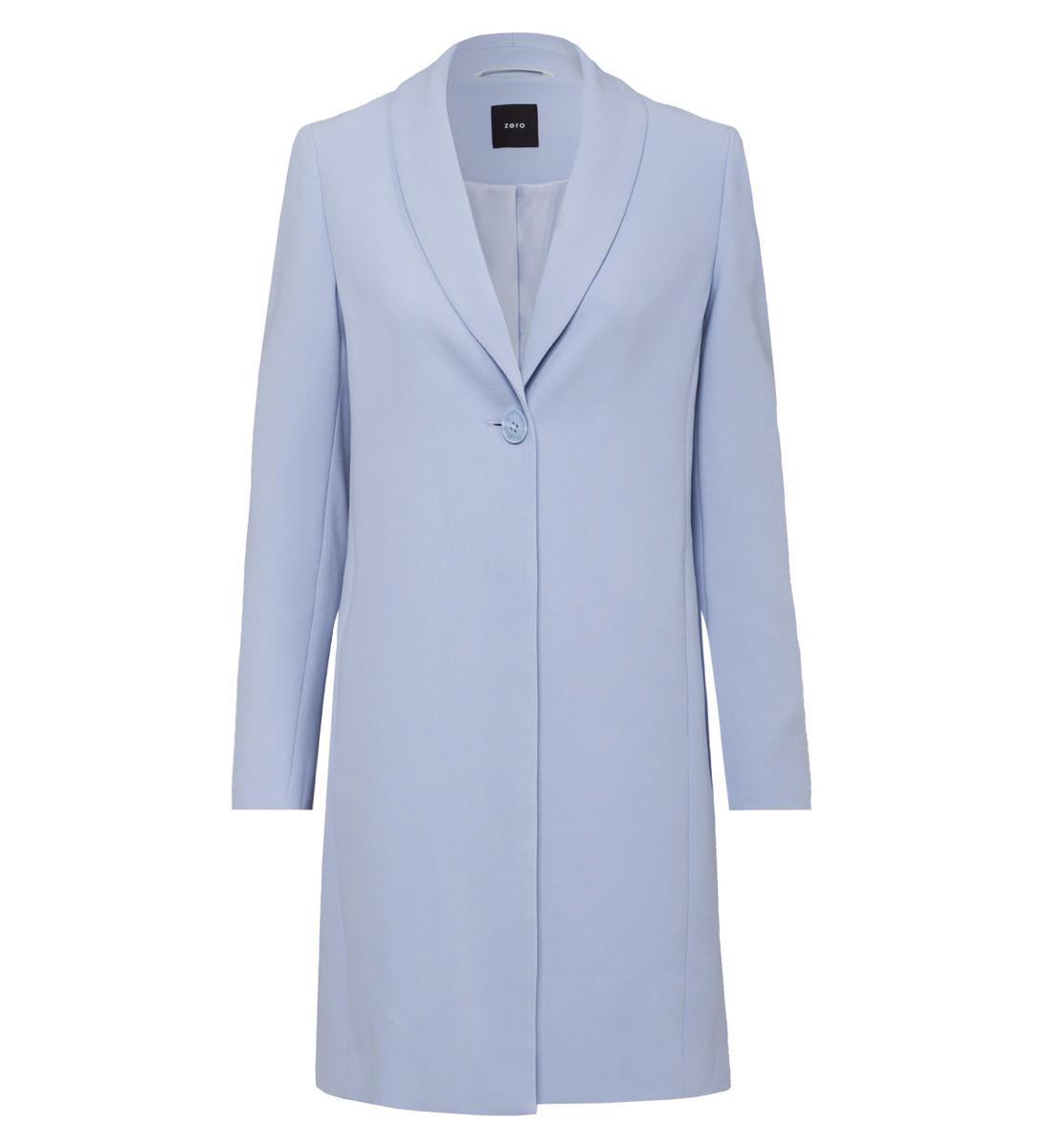 Mantel mit Schalkragen in arctic blue