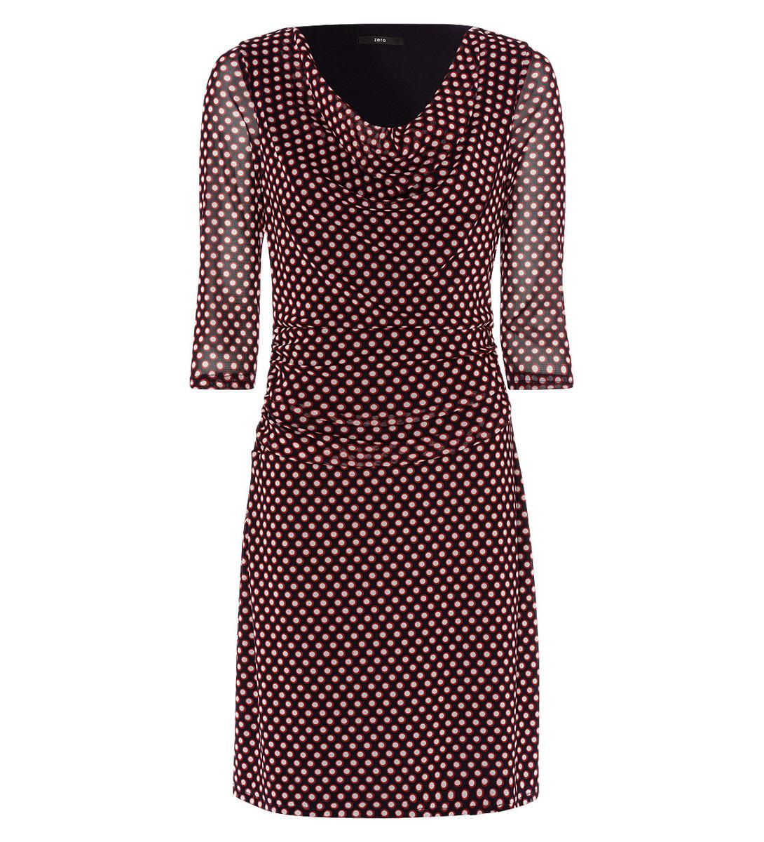 Kleid im Punktedesign in blue black