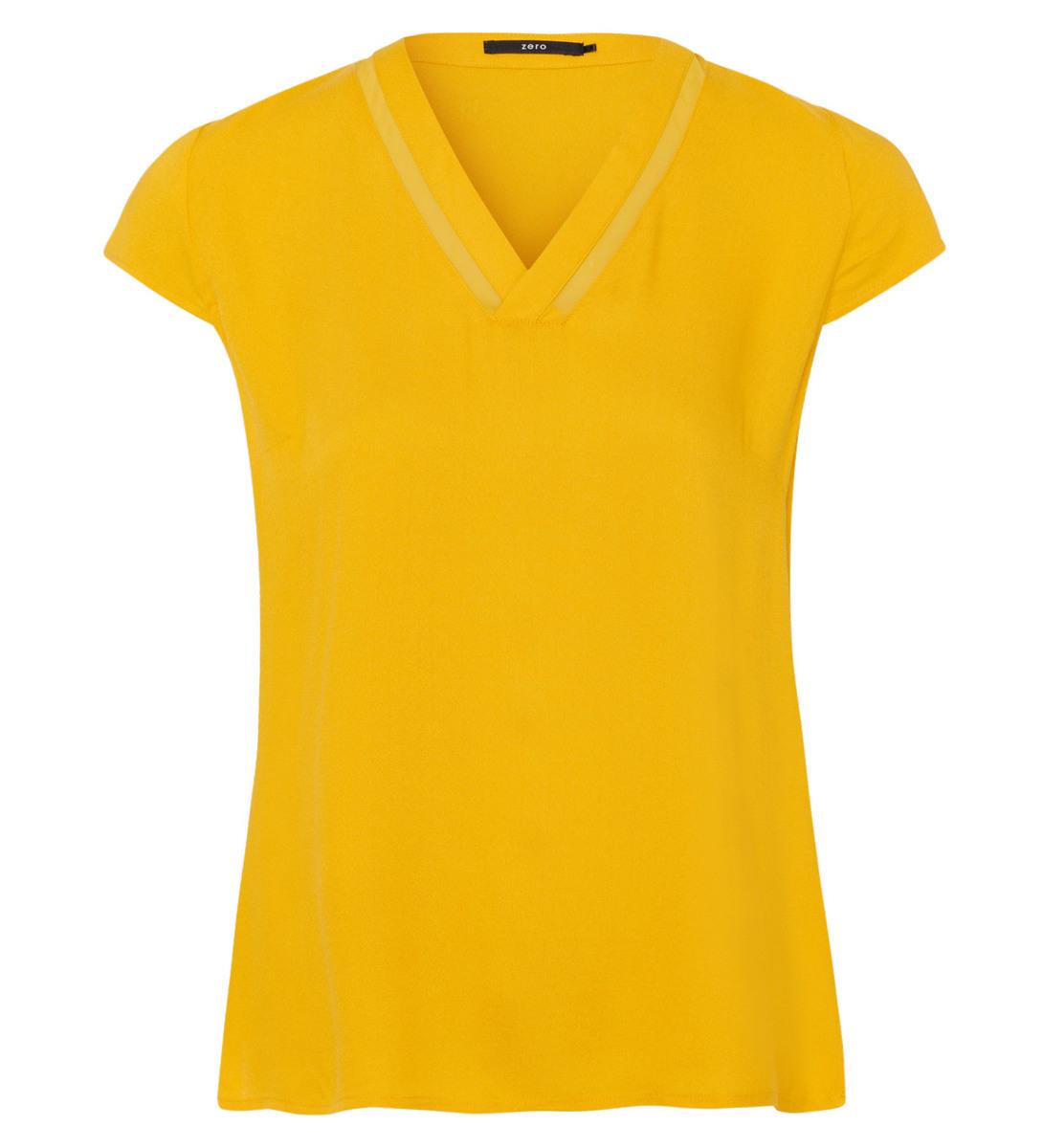 Bluse mit Flügelärmeln in safran yellow