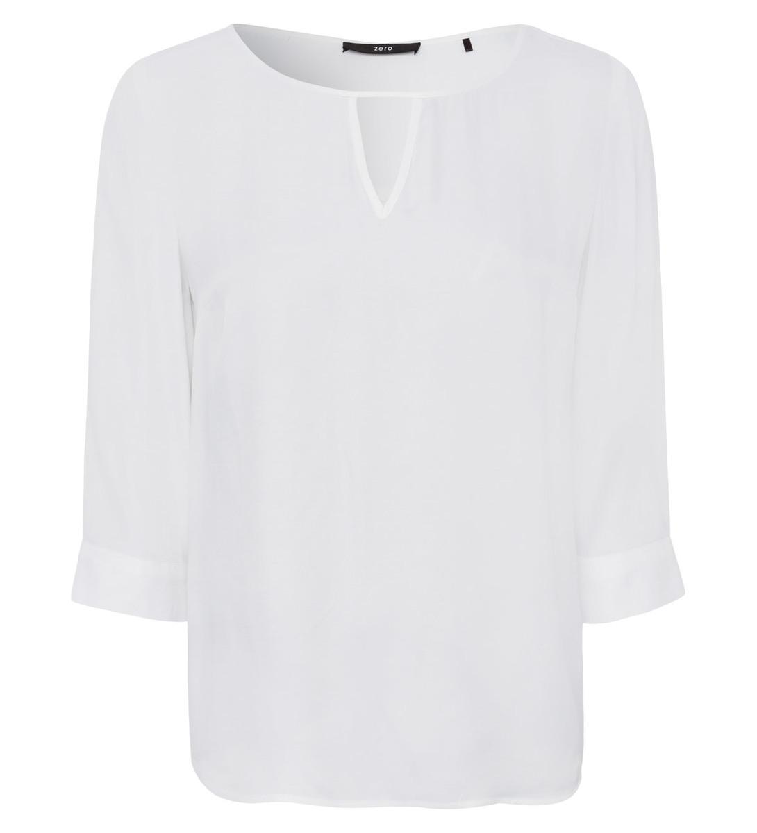 Bluse aus weich fließender Viskose in offwhite