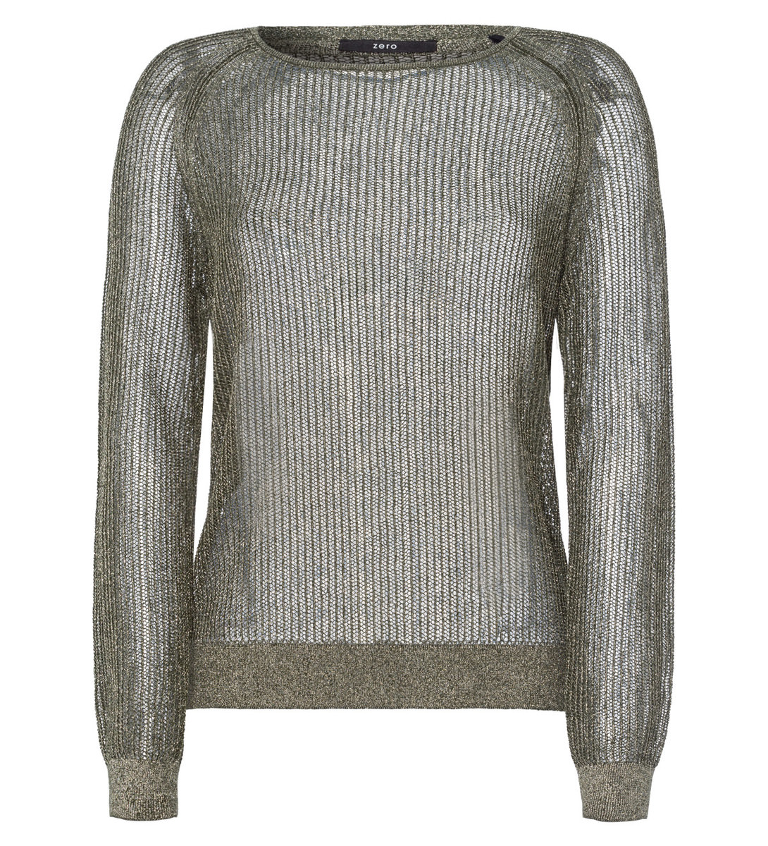 Pullover in Netzoptik in cypress olive