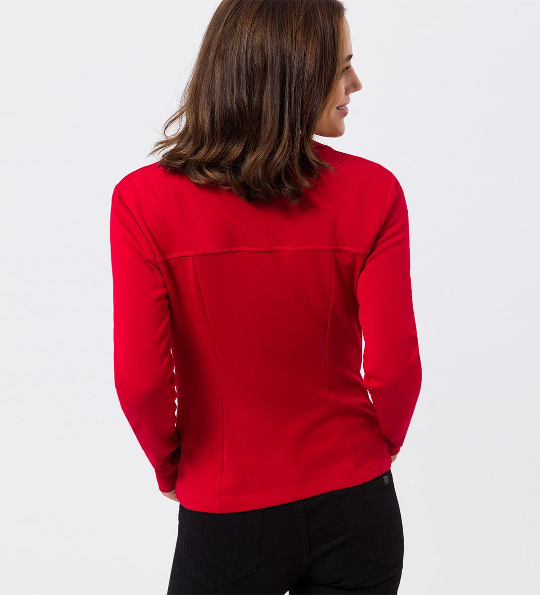 Jersey-Blazer in tango red