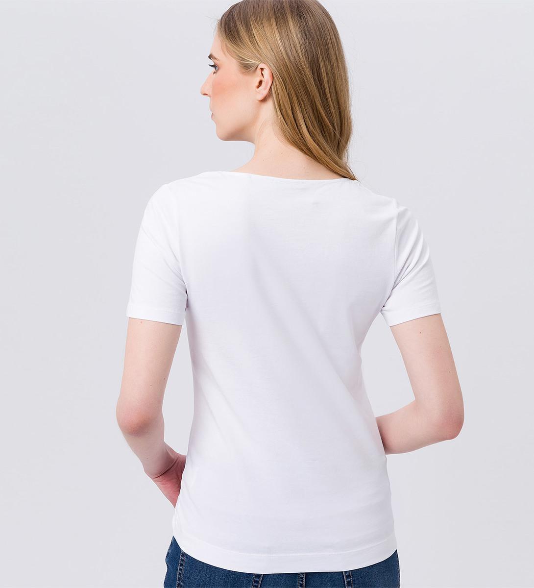 T-Shirt mit Rundhals in white