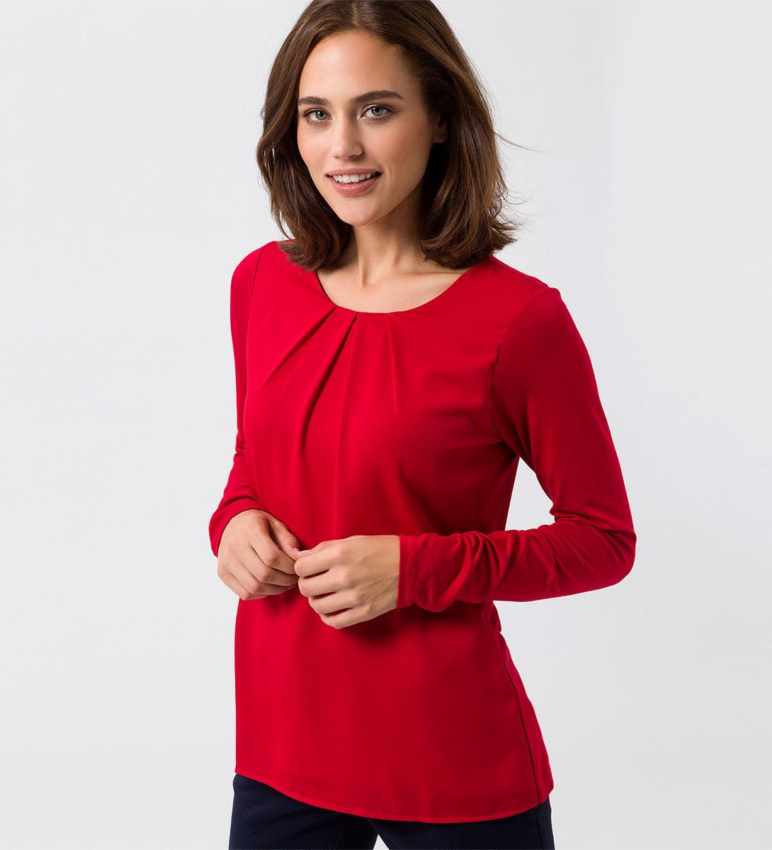 Blusenshirt in tango red