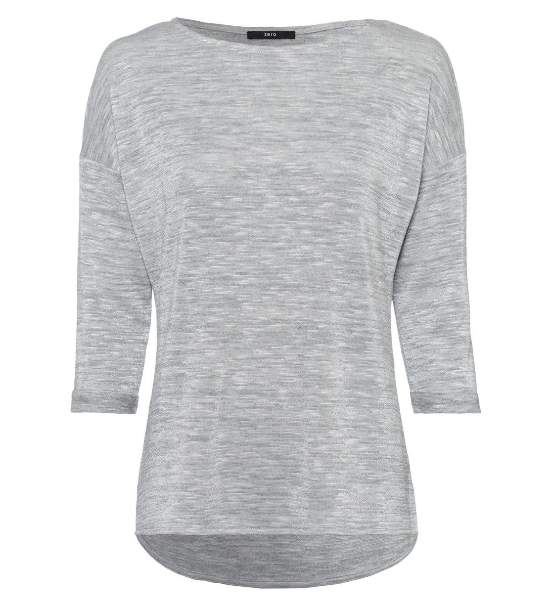 Shirt im Glitzer-Look in stone grey-m