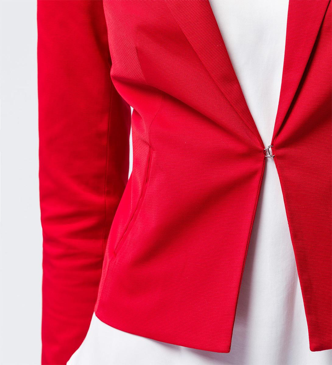 Blazer mit strukturierter Oberfläche in chili red
