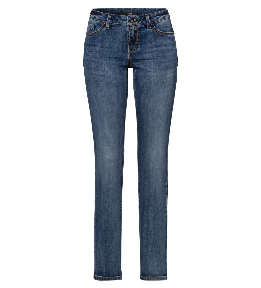 Jeans in leichter Waschung 32 Inch in mid blue wash out