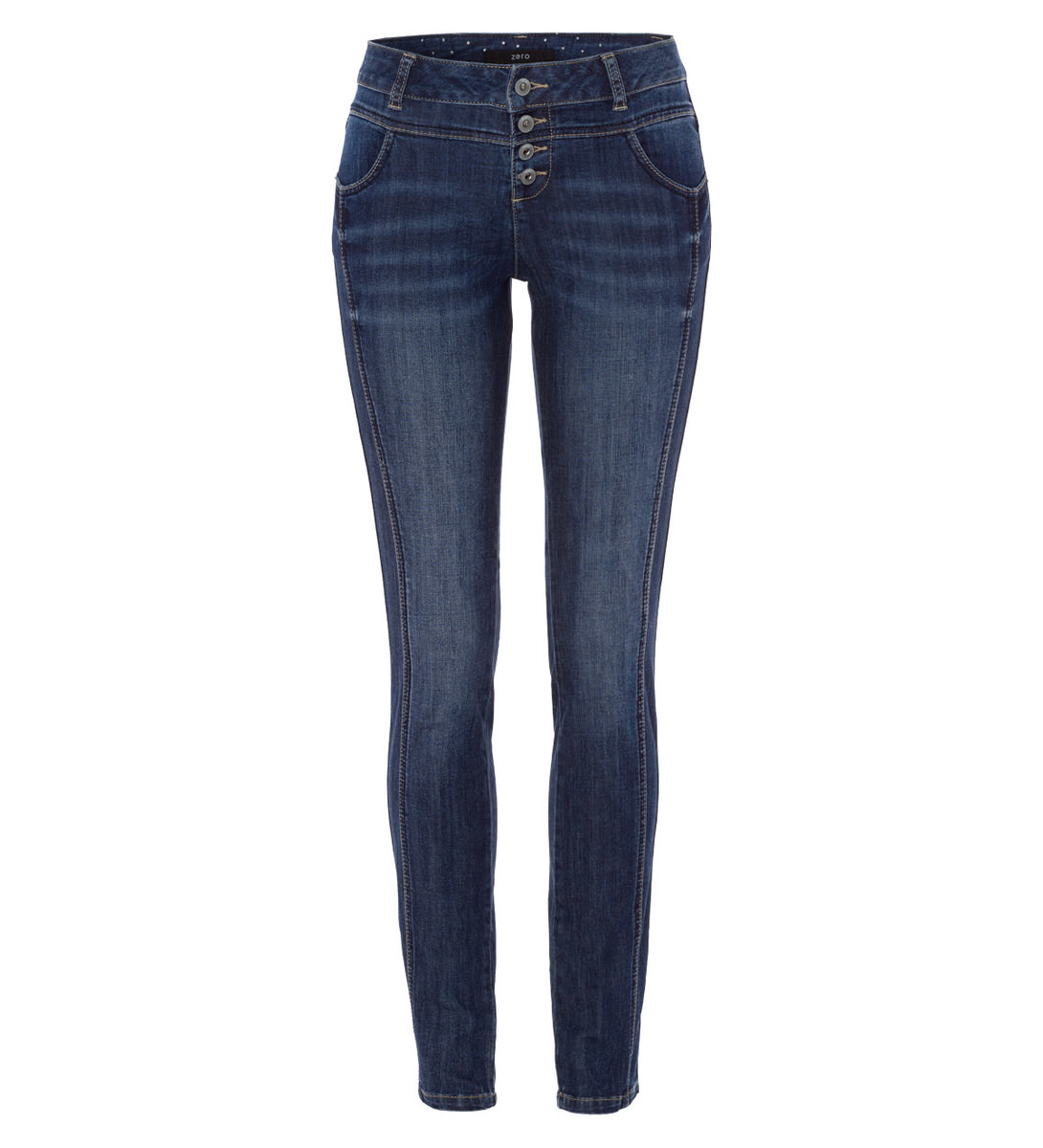 Jeans Orlando 32 Inch in mid blue soft wash details