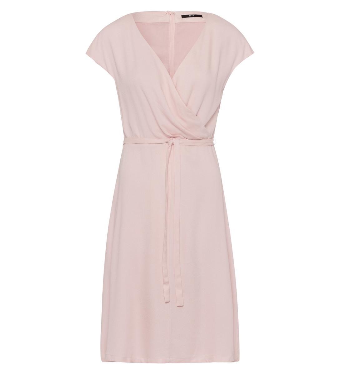 Kleid in Wickeloptik in soft rose