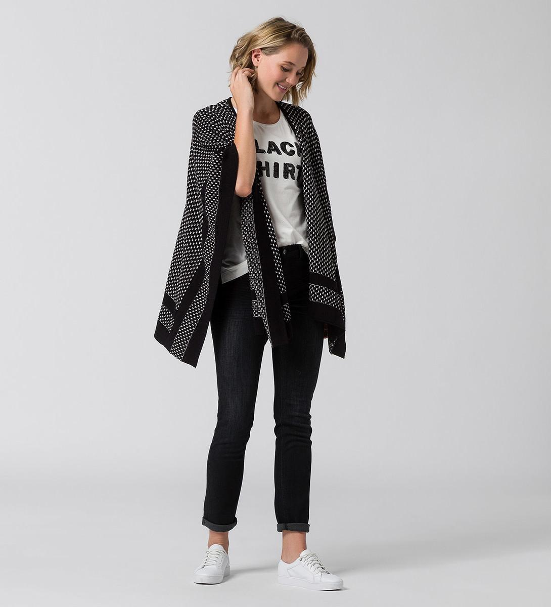 Strickjacke im Oversize-Look in black