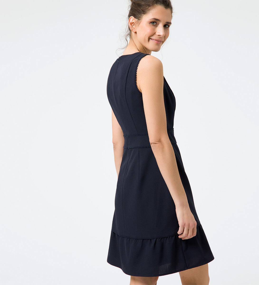 A-Linie-Kleid mit Zierborten in blue black