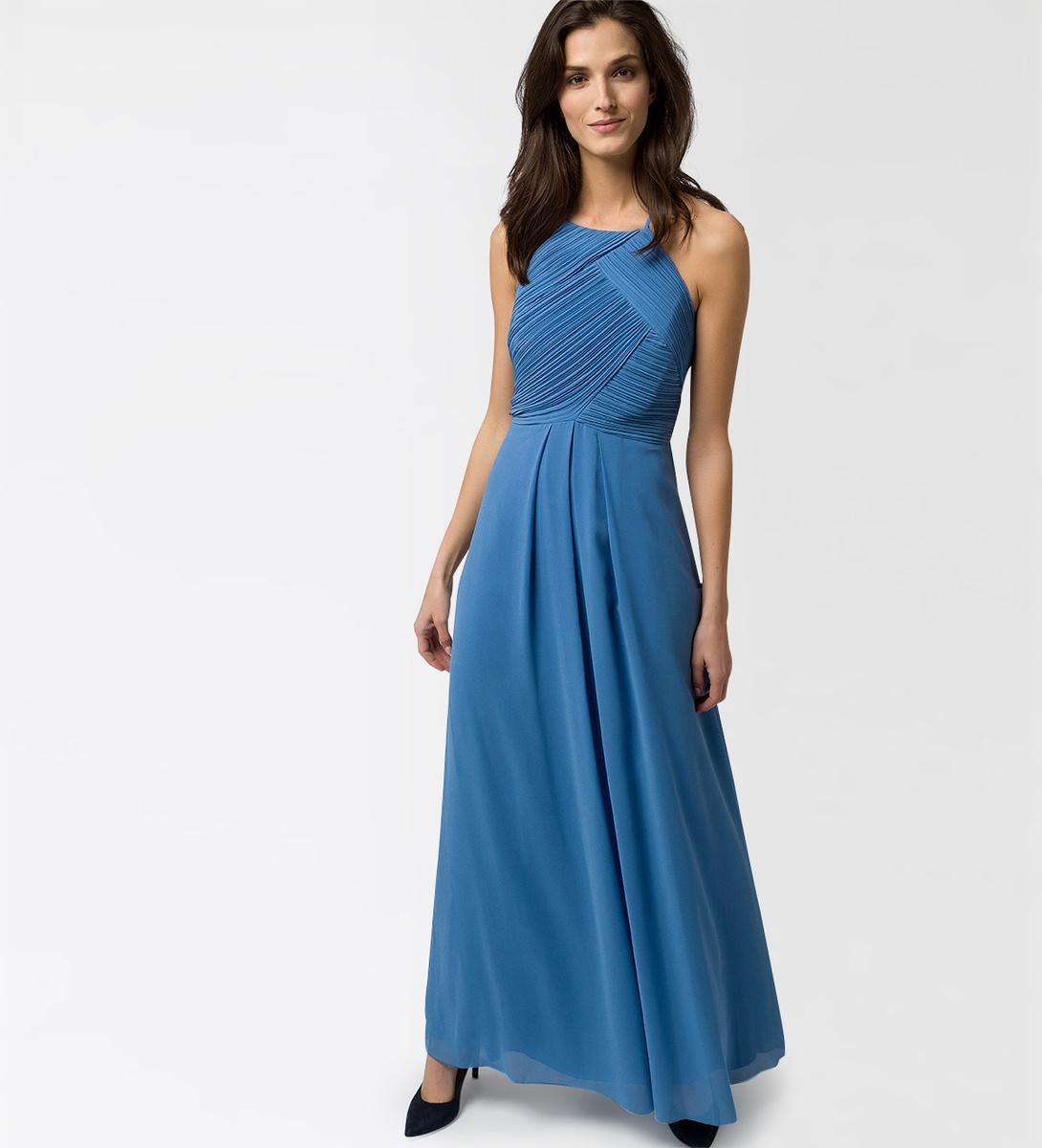 Kleid mit Details in water blue