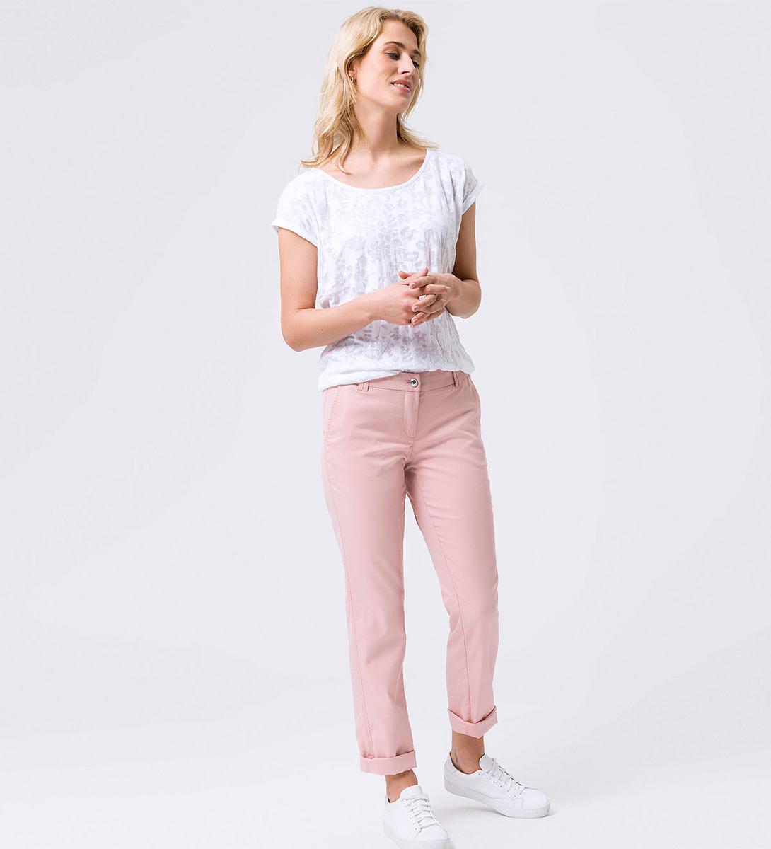 Hose Chino in unifarbenem Design 32 Inch in dusty pink