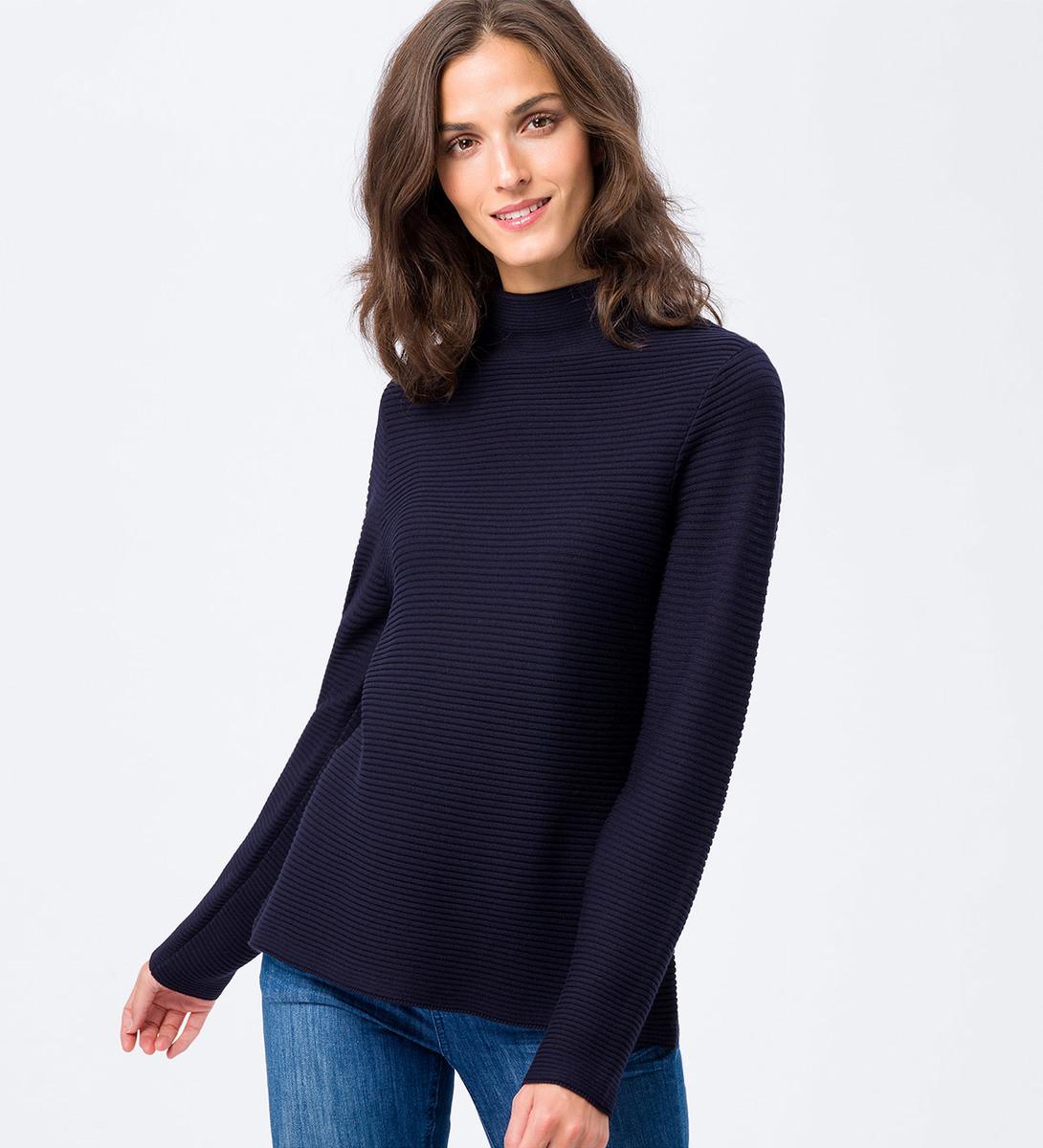 Pullover mit Rippstruktur in blue black