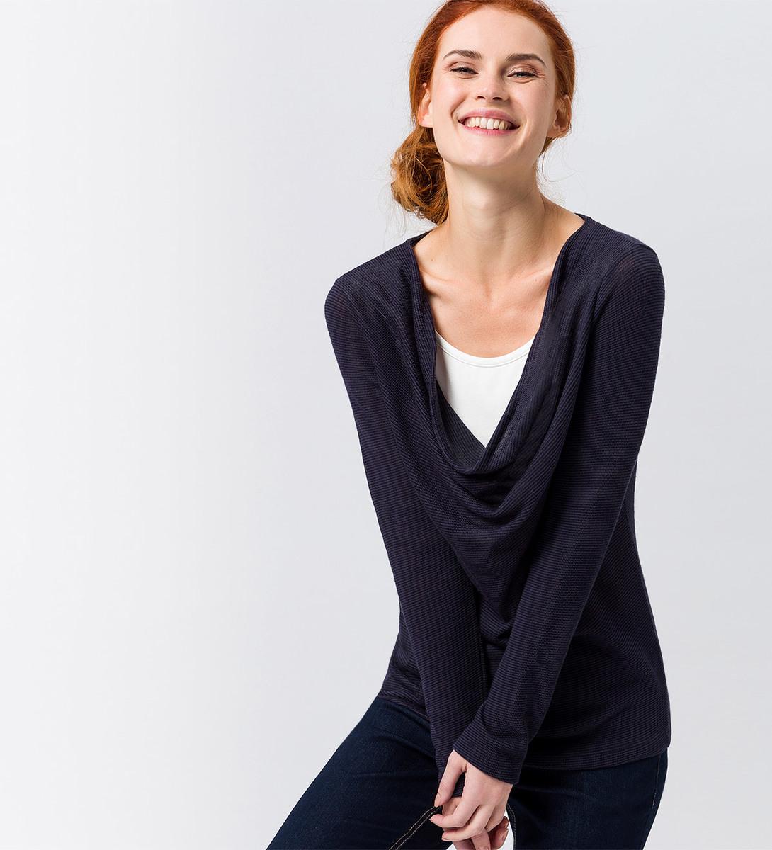 Sweatshirt mit Layer-Optik in blue black