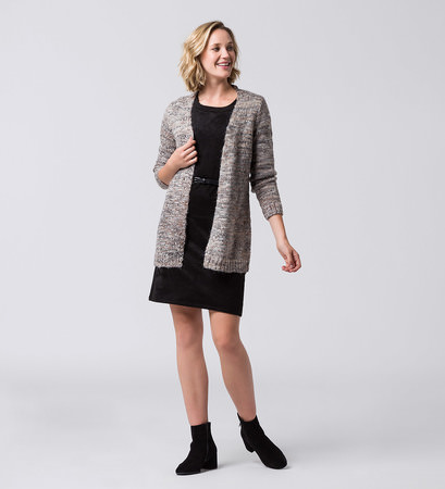 Strickjacke mit Effektgarn in dove grey