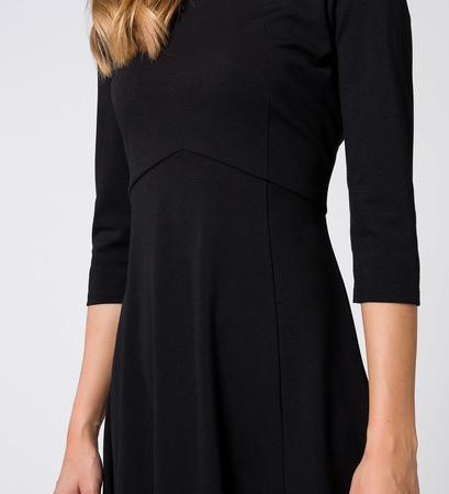 Kleid mit 3/4-Arm in black