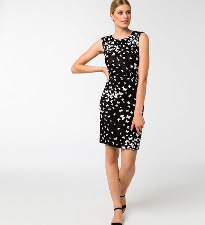 Kleid mit Alloverprint in black