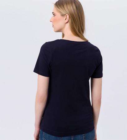 T-Shirt mit Rundhals in blue