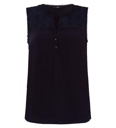 Bluse mit Spitzendesign in dark blue