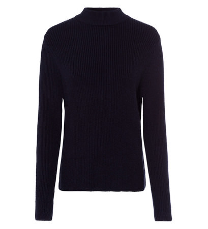 Pullover im Rippstrick-Look in blue black