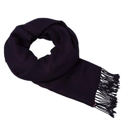 Schal mit Fransen in blue black
