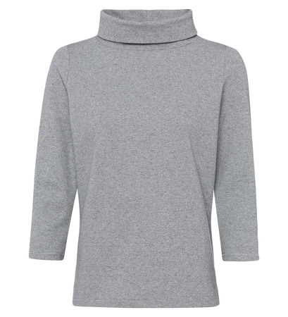Sweatshirt mit Turtleneck in stone grey