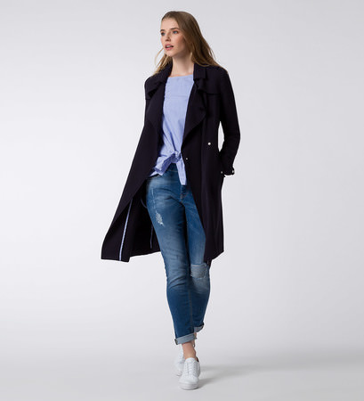 Jacke mit Bindegürtel in blue black