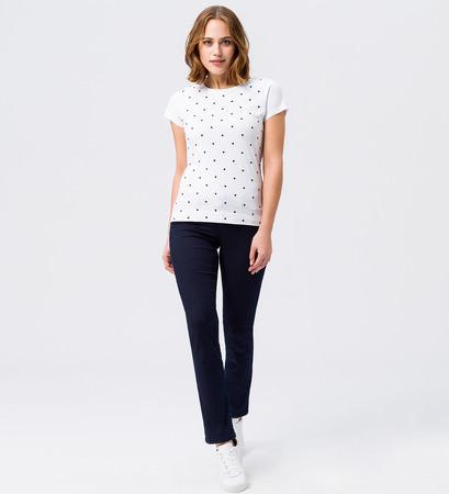 T-Shirt mit Stickerei in white