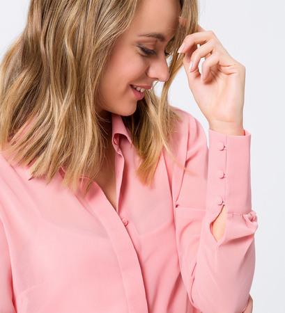 Bluse im transparenten Design in blossom