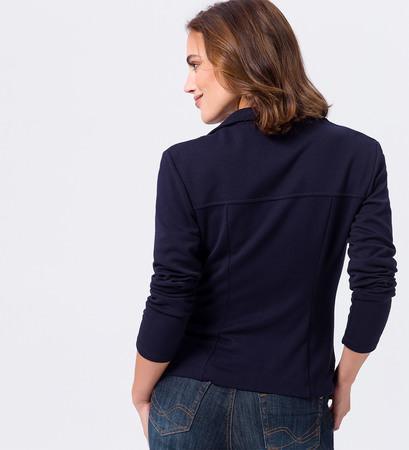 Jersey-Blazer in blue black