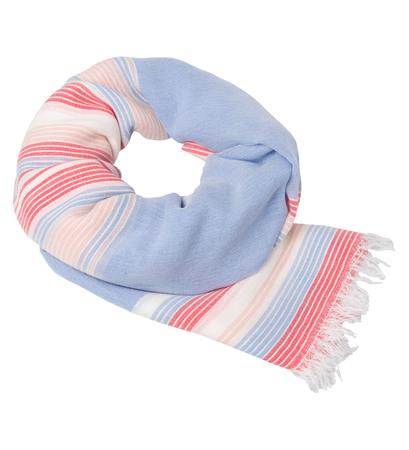 Tuch mit Streifen in blue wave