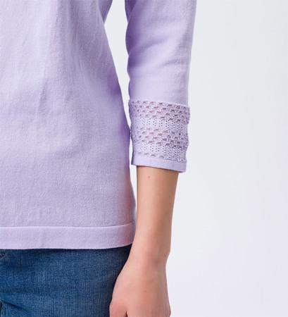Pullover mit 3/4-Ärmeln in lavender