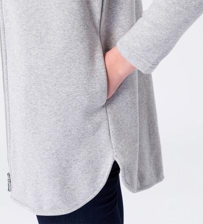 Jacke in weicher Sweatqualität in stone grey-m