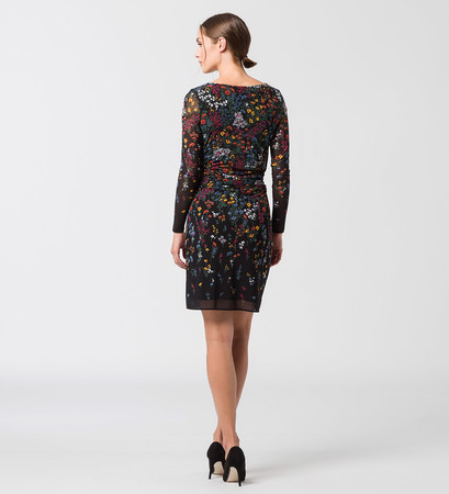 Kleid in Wickeloptik in black