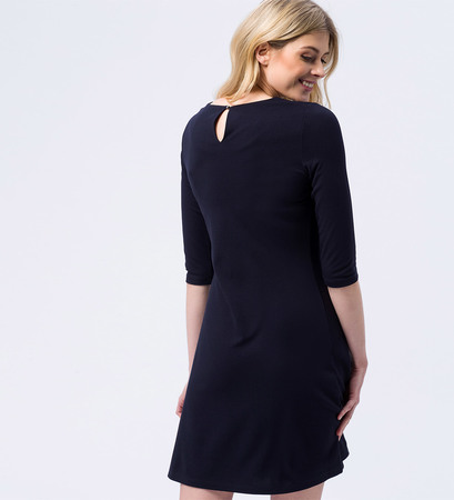 Kleid mit Nietendetail in blue black