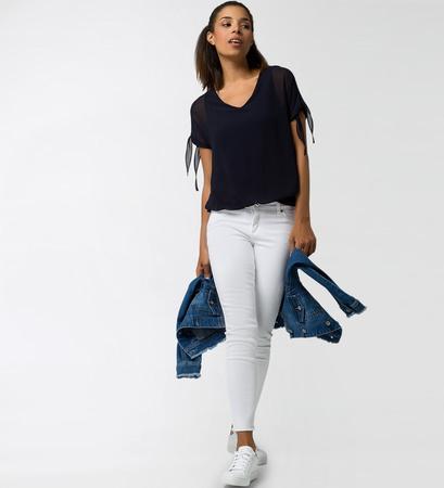 Bluse in Lagen-Look in blue black