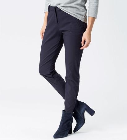 Hose mit Zippern am Saum in blue black