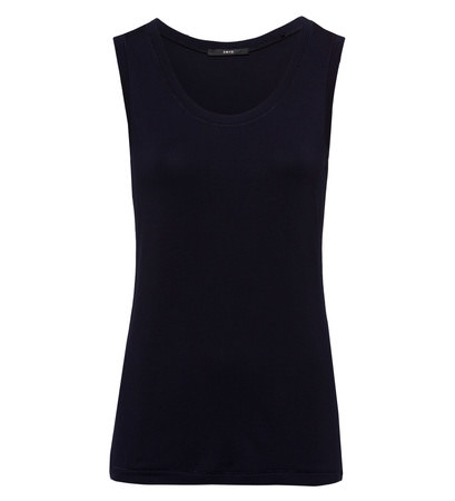 Top mit Ziersteppung in blue black