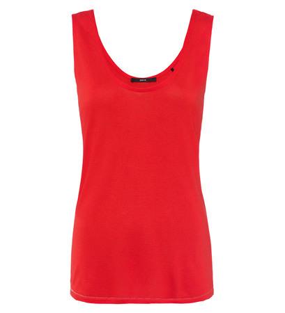 T-Shirt im Basic-Look in orange red