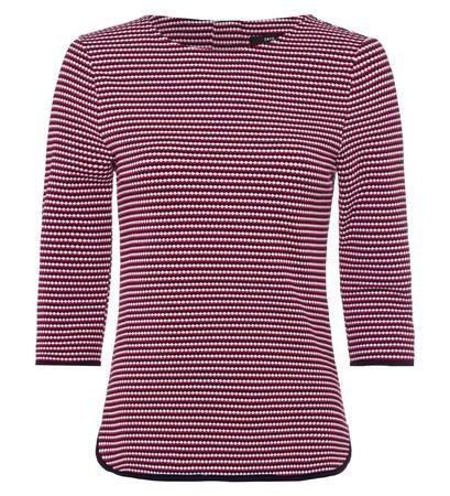T-Shirt mit Minimal-Muster in blue black