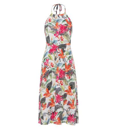 Kleid mit Neckholder in offwhite