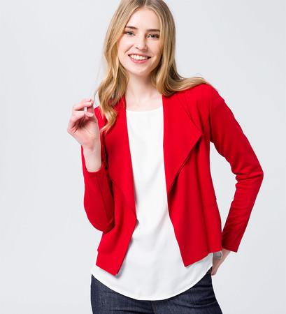 Jacke im Blazerdesign in fresh red