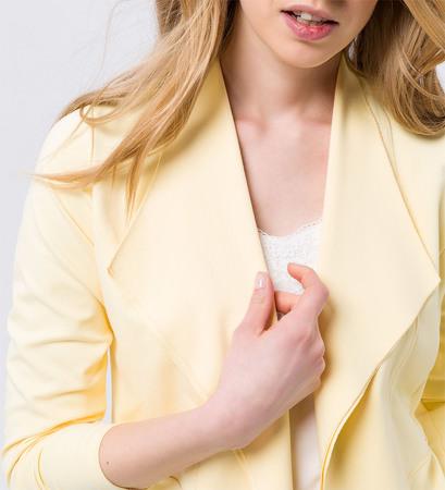 Sweatjacke im Blazerdesign in yellow