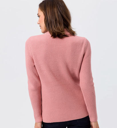 Pullover im Rippstrick-Look in dusk rose