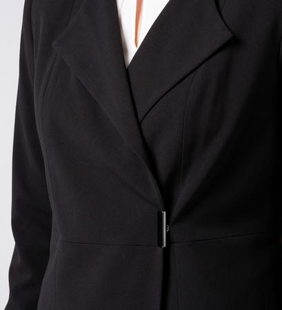 Blazer mit Druckknopf in black