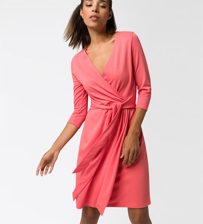 Kleid im Wickel-Look in soft melon