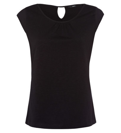 Top mit Keyhole-Design in black