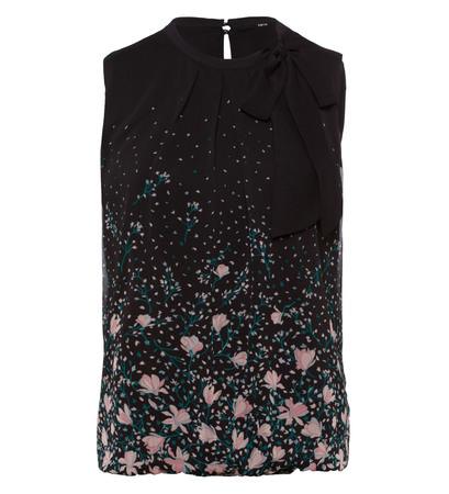 Bluse mit Schluppe in black